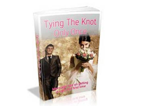Product picture Tying The Knot Only Once Ebook With PLR
