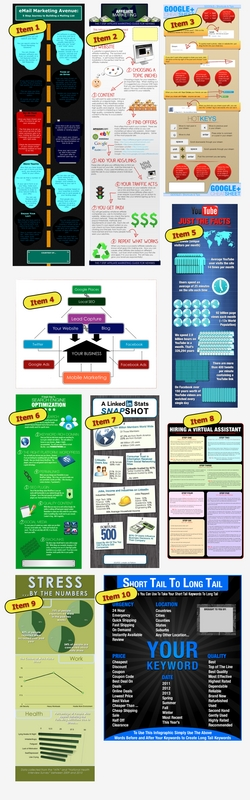 Product picture 10 KILLER Infographics - Dirt Cheap - Brand Them Yourself With PLR