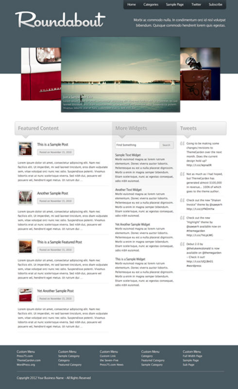 Product picture Roundabout WP Premium Theme Download