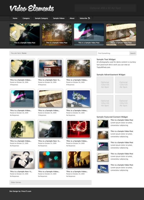Product picture Video-elements WP Premium Theme Download