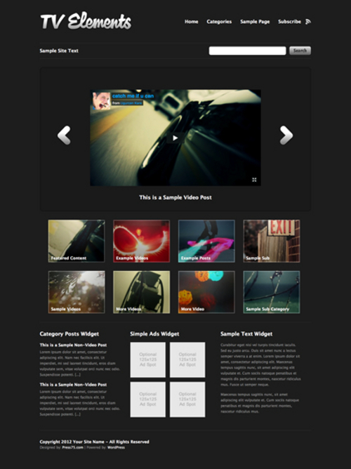 Product picture Tv-elements WP Premium Theme Download