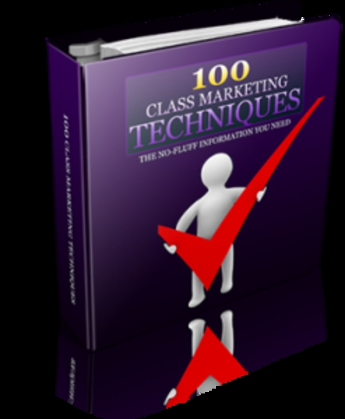 Product picture 100 Class Marketing Techniques With PLR