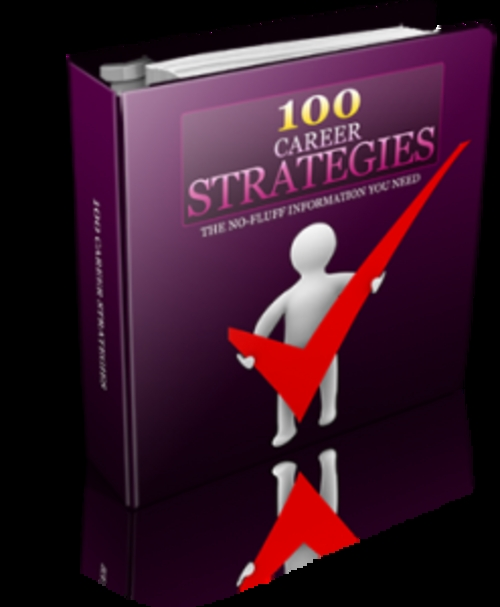 Product picture 100 Career Strategies With Resale Rights