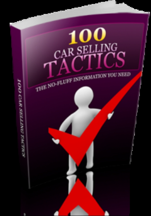 Product picture 100 Car Selling Tactics With PLR