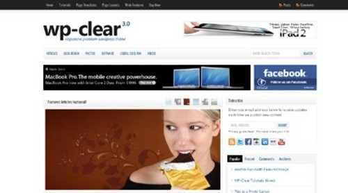 Product picture WP-Clear WordPress Theme Download